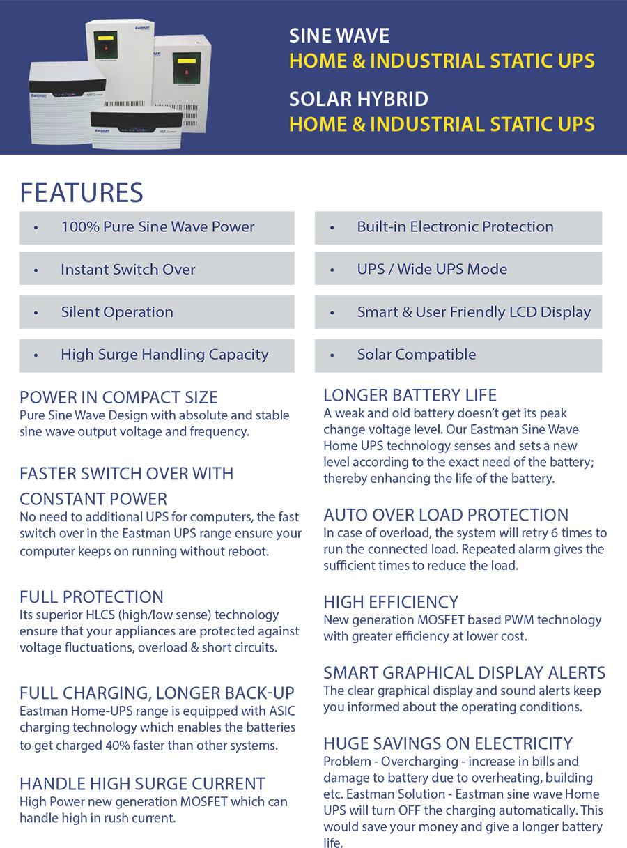 UPS/GEL BATTERY POWERED SOLUTIONS – Cool Power Holdings Pvt Ltd